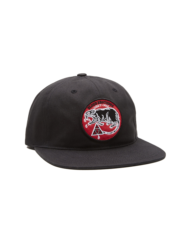 46cd6fae552 OBEY X HUF Blood Brothers 6-Panel Hat - Obey Clothing UK
