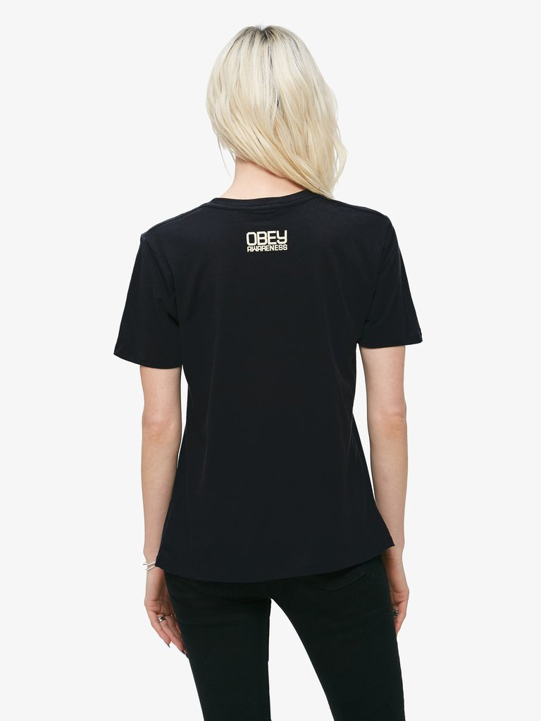 We The People Defend Dignity Suede T Shirt Obey Clothing Uk