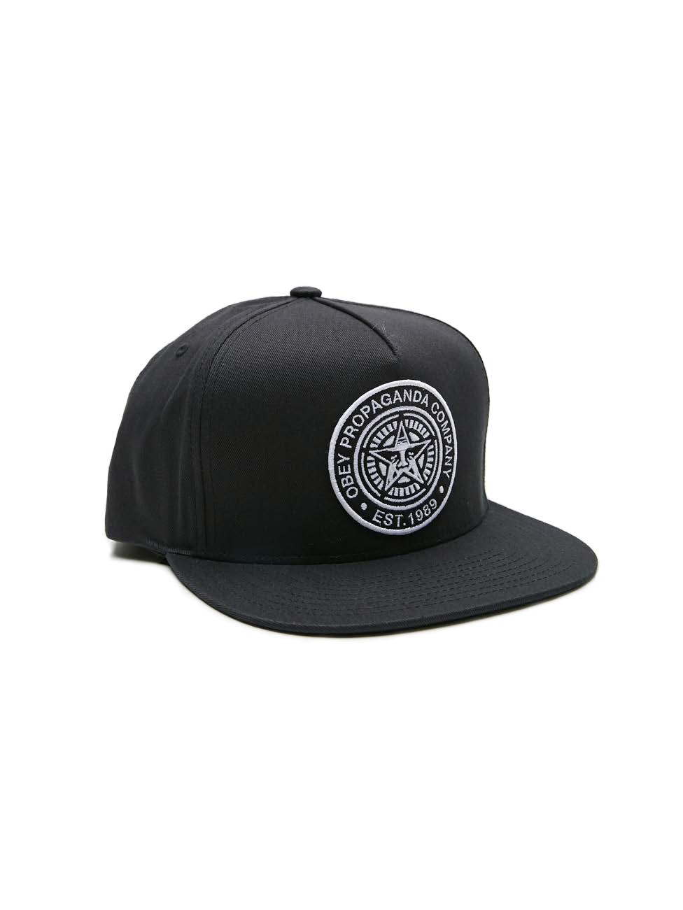 33e6a01f65deb3 Established 89 II Trucker Snapback Hat - Obey Clothing UK