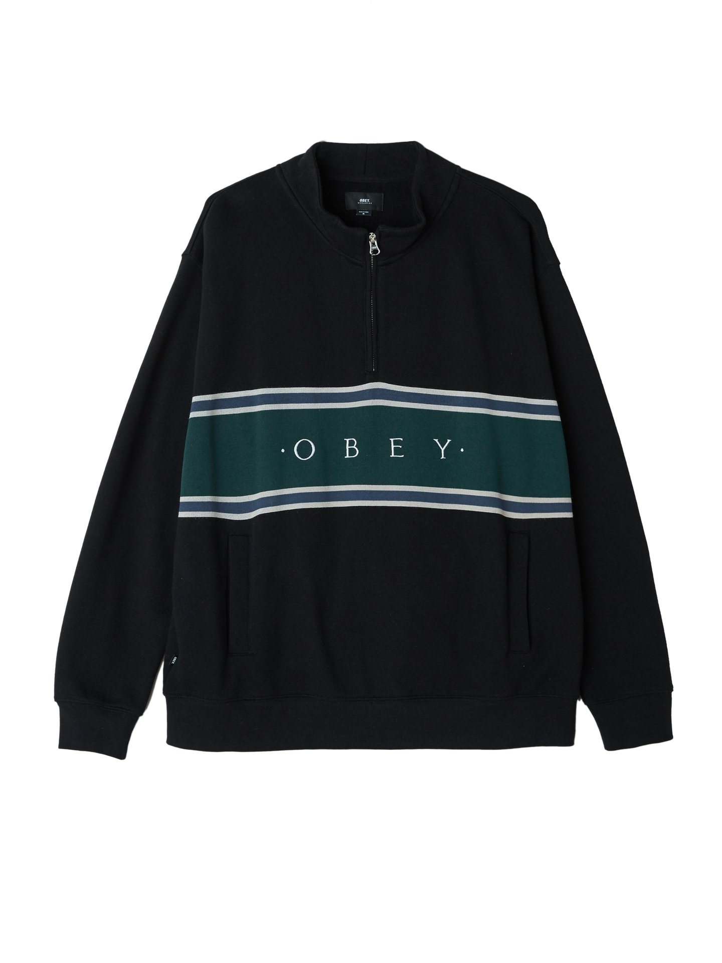 ca0ce9d9 Palisade Mock Neck Zip - Obey Clothing UK