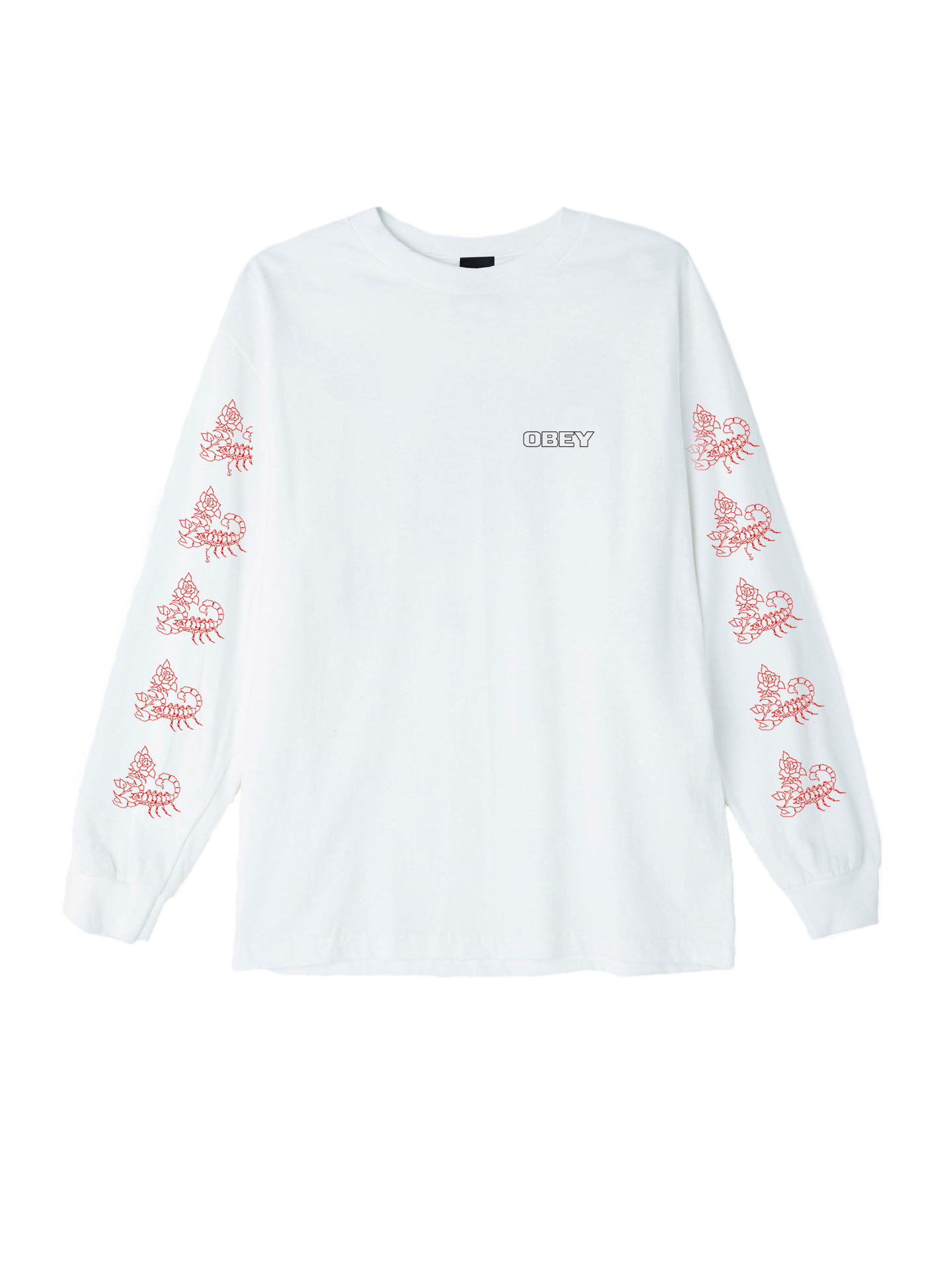 1a8dfe77e71 Scorpion Rose Basic Long Sleeve T-Shirt - Obey Clothing UK