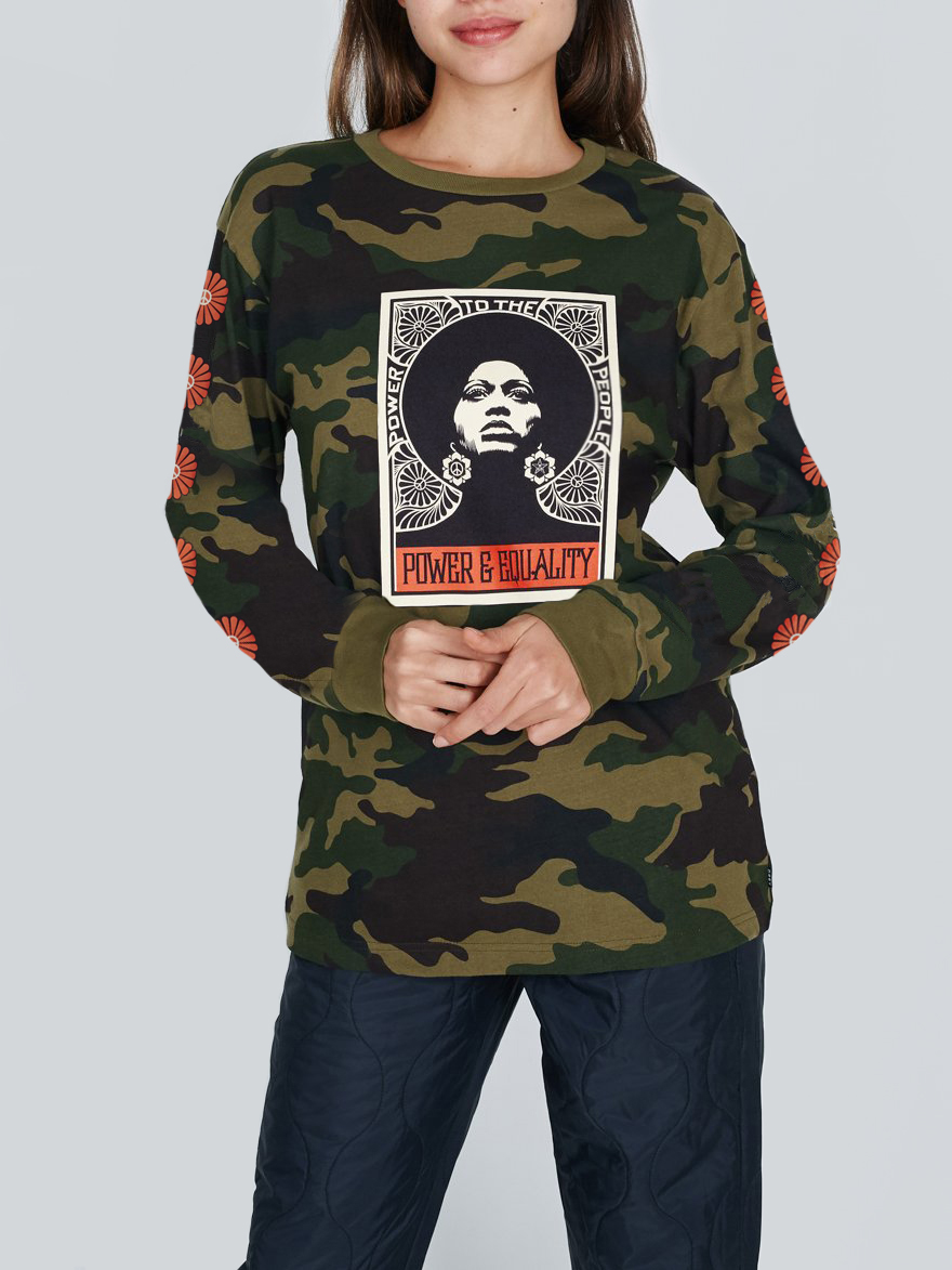5f06d84c Afrocentric Camo Long Sleeve T-Shirt - Obey Clothing UK