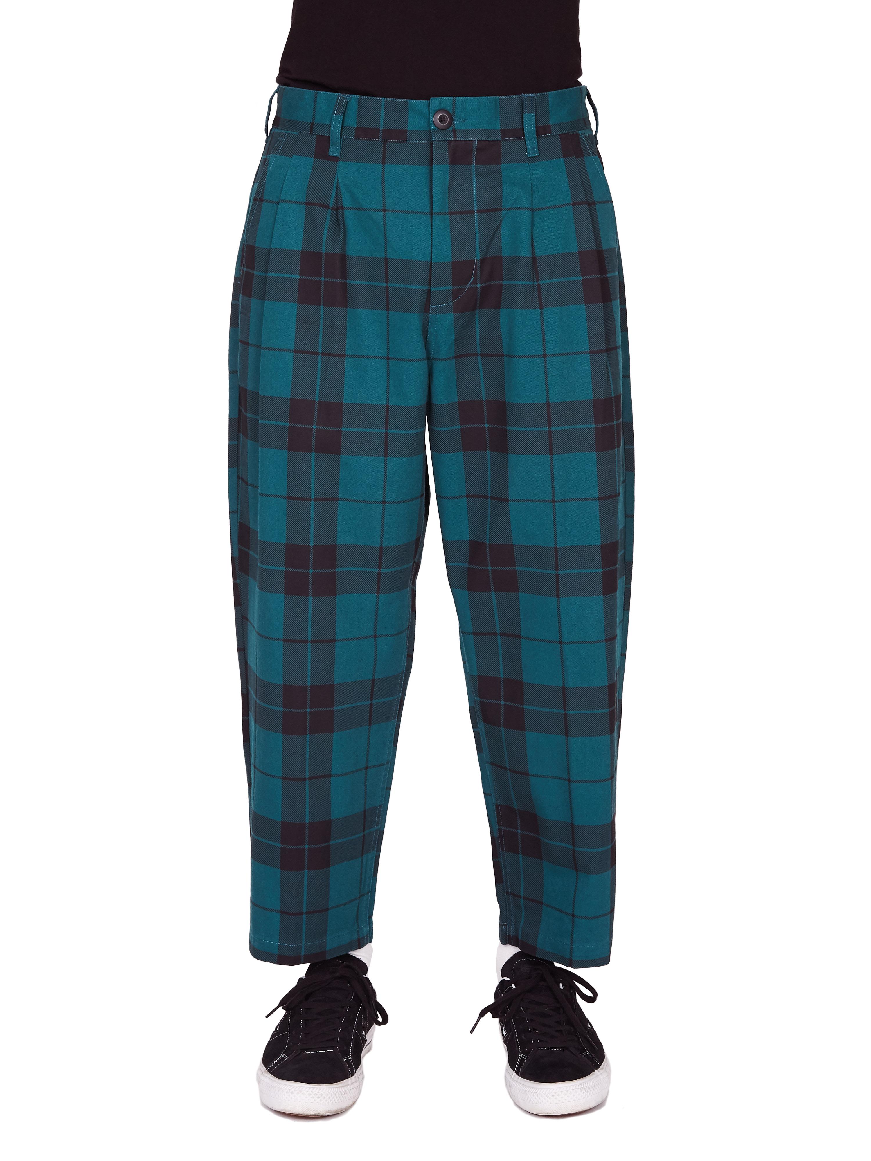 Fubar Pleated Plaid Pant Obey Clothing Uk