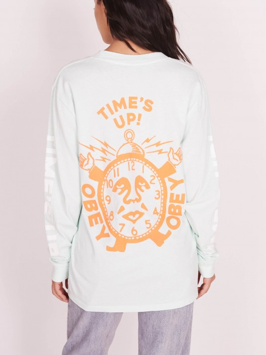 d150131aa Time's Up Custom Box Pigment Long Sleeve T-Shirt